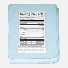 Skating Life Facts baby blanket