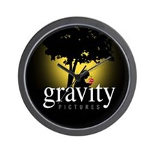 Gravity Pictures (Gold) Wall Clock