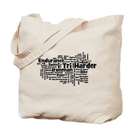 Ironman Triathlon Jargon Tote Bag