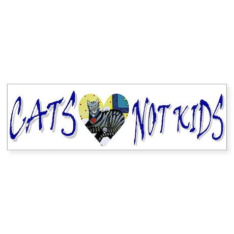 Bumper Sticker - Cats, Not Kids