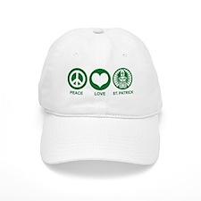 Peace Love St. Patrick Baseball Cap