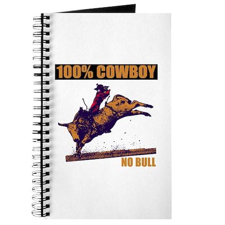 100% Cowboy Unlined Journal