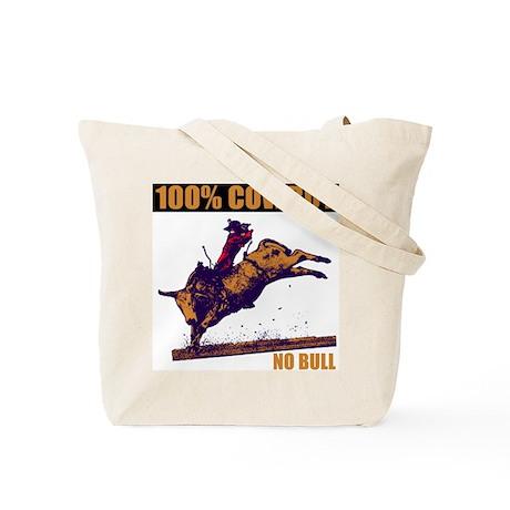 100% Cowboy Tote Bag