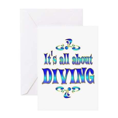 About Diving Greeting Card