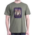 Sunset Marsh Stained Glass Dark T-Shirt