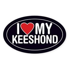 I Love My Keeshond Oval Sticker/Decal