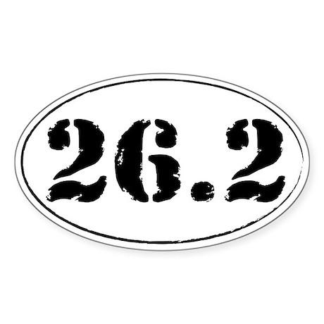 26.2 - Marathon Sticker (Oval)