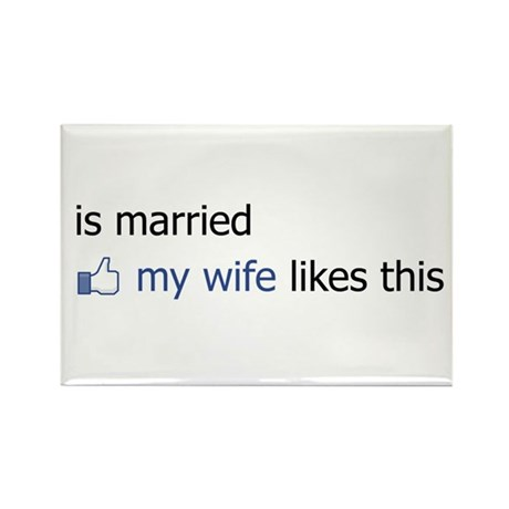 FB Status Married Rectangle Magnet (10 pack)