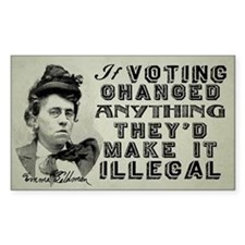 Emma Goldman Voting Decal