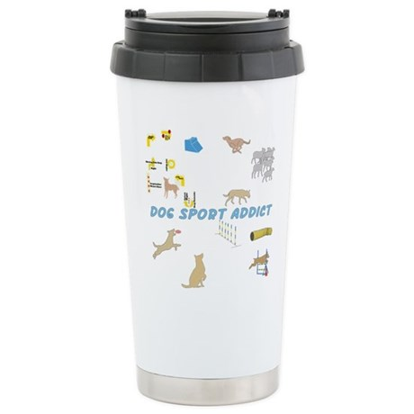 Dog Sports Addict Stainless Steel Travel Mug