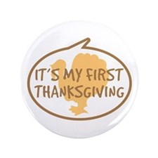 """Baby's First Thanksgiving 3.5"""" Button (100 pack)"""