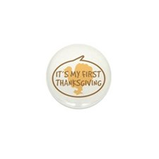 Baby's First Thanksgiving Mini Button (10 pack)