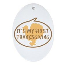 Baby's First Thanksgiving Ornament (Oval)