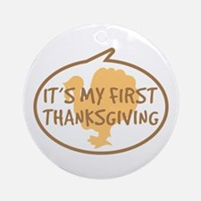 Baby's First Thanksgiving Ornament (Round)
