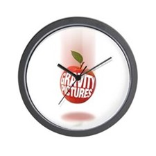 Gravity Pictures (Apple) Wall Clock