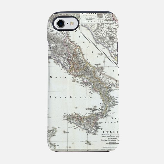 Vintage Map of Italy (1865) iPhone 7 Tough Case