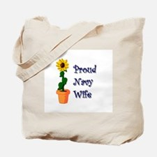 Sunflower Navy Wife Tote Bag