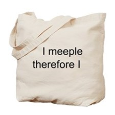 I meeple, therefore I am. TOTE BAG