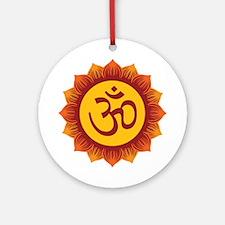 Hindu Aum Symbol Ornament (Round)