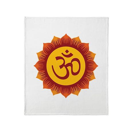 Hindu Aum Symbol Throw Blanket