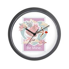 Cute Angel pigs Wall Clock