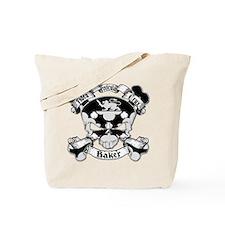 Baker Family Crest Skull Tote Bag