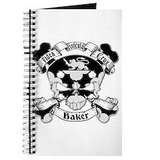 Baker Family Crest Skull Journal