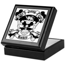 Baker Family Crest Skull Keepsake Box