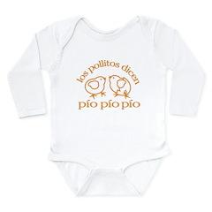 Los Pollitos Dicen Long Sleeve Infant Bodysuit