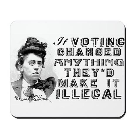 Emma Goldman Voting Mousepad