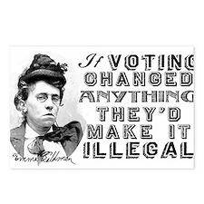 Emma Goldman Voting Postcards (Package of 8)