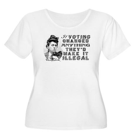 Emma Goldman Voting Women's Plus Size Scoop Neck T