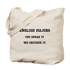 You Speak, We Critique Tote Bag