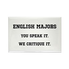 You Speak, We Critique Rectangle Magnet