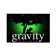 Gravity Pictures Green Rectangle Magnet