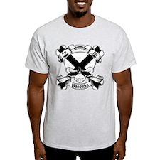 Baldwin Family Crest Skull T-Shirt
