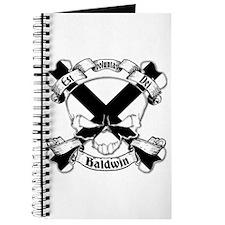 Baldwin Family Crest Skull Journal