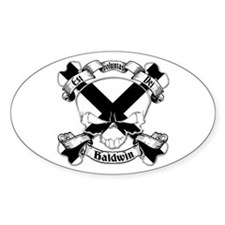 Baldwin Family Crest Skull Decal