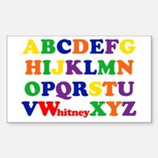 Whitney Alphabet Decal