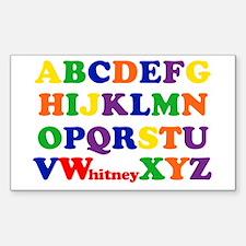 Whitney Alphabet Sticker (Rectangle)