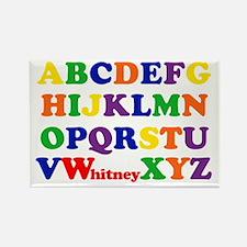 Whitney Alphabet Rectangle Magnet