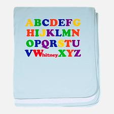 Whitney Alphabet baby blanket