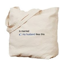 FB Status Married Too Tote Bag