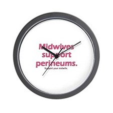 """Midwives Support"" Wall Clock"
