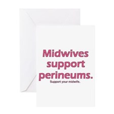 """""""Midwives Support"""" Greeting Card"""