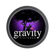 Gravity Pictures Purple Wall Clock
