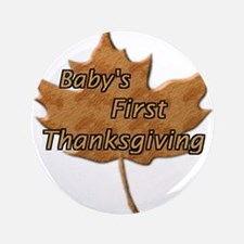 "Cute First thanksgiving 3.5"" Button (100 pack)"