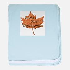 Cute 1st thanksgiving baby blanket