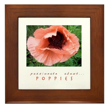Passionate About Poppies Framed Tile