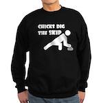 Chicks Dig the Skip Sweatshirt (dark)